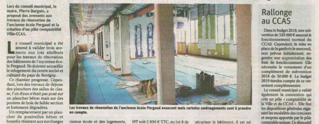Malgré les déconvenues, les travaux des futurs locaux où sera installé votre Centre Social avancent. […]
